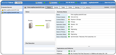 Monitor operational status for all MOVEit servers, databases and Windows file servers in a unified management tool